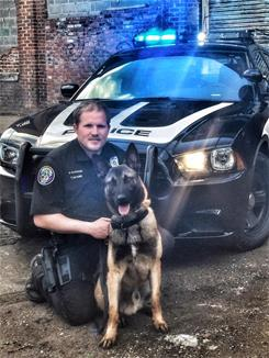 K9 Officer McGuire and Aries