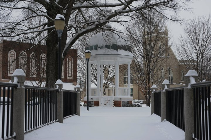 Johnston Park in the Snow