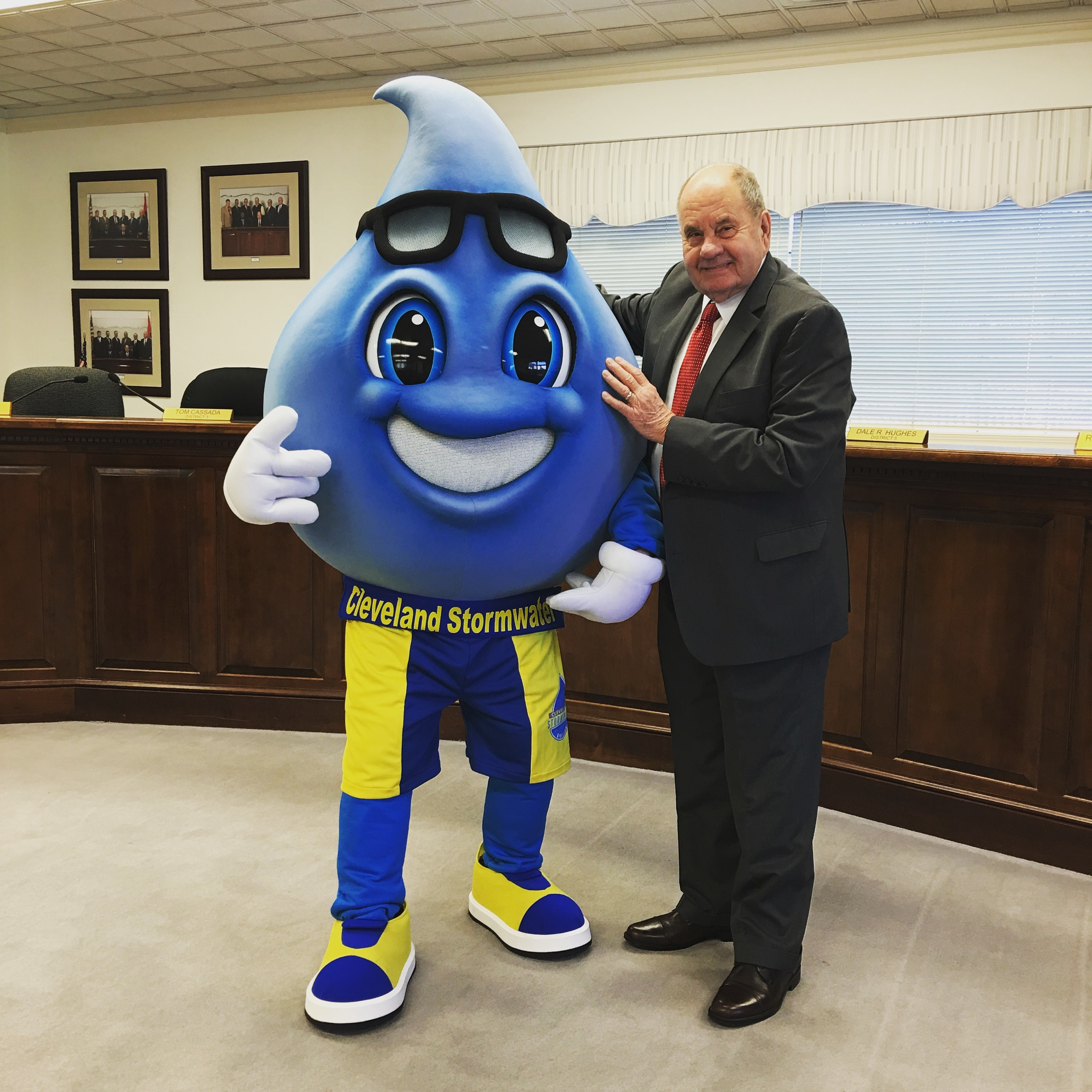 Mayor Rowland Ben Rainin Stormwater Mascot.jpg